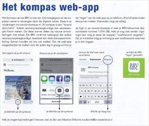 Tegel maken van Kompas App